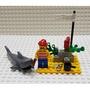 樂高 1481 海盜 鯊魚 船員 鸚鵡 絕版 老物 古董