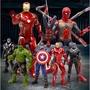 【6月优惠】現貨 漫威正版 復仇者聯盟 玩具公仔 鋼鐵俠 蜘蛛人 美國隊長 浩克 滅霸薩諾斯 超級英雄