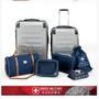 瑞士SWISS MILITARY質感髮絲紋PC行李箱七件組