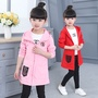 女童外套童裝2019新款春秋款時尚米奇外套中大童風衣女孩兒童開衫