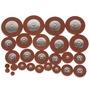 25件4.8毫米厚的中音薩克斯風專業橙色皮墊