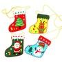 【現貨】聖誕飾品 DIY不織布聖誕襪 材料包