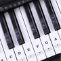 54 61 88 Keys Electronic Piano Keyboard Sound Name Stickers Key Sticker Piano Stave Music Decal Label Note Sticker