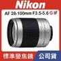 【公司貨全新品】Nikon 28-100mm F3.5-5.6G 旅遊鏡 AF鏡頭 全幅可用