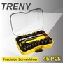 【TRENY】精密螺絲起子組-46合1(精密起子) 套筒 附收納盒 加長桿 手錶 3C 手機 電腦 0516A