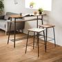 【完美主義】簡約典雅木紋120cm吧檯桌+吧檯椅x2入/餐桌椅組/吧台桌椅組/一桌二椅(二色可選)