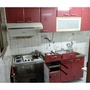 系統廚櫃 實心板烤漆,不鏽鋼流理台 二手廚具 含瓦斯爐 抽油煙機 烘碗機