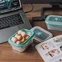 仁舟淨塑 矽密盒 (600ml) 長形綠矽龜