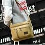 韓版多口袋中性斜背包標準版型日版側背包郵差包大容量隨身包 新款韓版男包休閑帆布包單肩包男士斜挎包學生書包