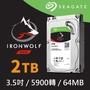 Seagate 希捷【那嘶狼】2TB 3.5吋 64MB 5900轉NAS(ST2000VN004)