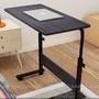 【AM165】簡易筆記本電腦桌80x40cm可移動升降電腦桌 床上書桌 可移動懶人桌 床邊桌