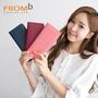 【橘子包舖】韓國正貨 FROMb 真皮超薄長夾 [G0850] 零錢袋|女皮夾|三色