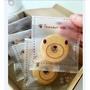 【嚴選SHOP】95入 小熊半透明 磨砂餅乾袋 需用封口機封口 平口袋 月餅袋 包裝袋 餅乾 西點 飾品【D002】