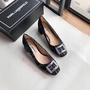 特價 正品 Karl Lagerfeld KL 老佛爺 刺繡 小香風 復古 金釦 氣質 低跟鞋 跟鞋 婚鞋 通勤