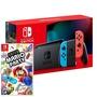Nintendo Switch 主機 電光紅藍 (電池加強版)+超級瑪利歐派對 亞版 中文版 特殊色/不區分