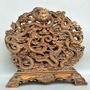 木雕《九龍戲珠》大屏風