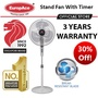 EuropAce Stand Fan with Timer (16