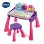 Vtech 3合1多功能互動學習點讀桌椅組-粉