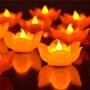 佛供燈💄現貨 佛堂電池 蓮花燈 供佛電子蠟燭燈小荷花燈 佛前七彩佛燈led佛教用品