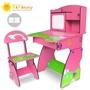 Kikimmy歐風木製可升降成長型兒童書桌椅組