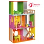 【德國 classic world】客來喜木頭玩具 時尚娃娃屋(含人偶和家具) CL4124