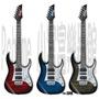 【小富富樂器館】IBANEZ grg150QA電吉他 三色虎紋漸層色 送實用配備