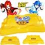 靈動魔幻陀螺2二代正版兒童玩具焰天火龍王拉線手柄戰斗盤競技場