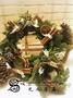 [光之薩滿]純手工製作 聖誕快樂之聖誕花圈 新鮮諾貝松 25cm 15cm 10cm