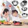 {現貨}過家家超抗摔不鏽鋼兒童做飯迷你廚房玩具套裝兒童不鏽鋼廚房玩具