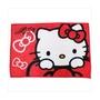 【真愛日本】17102700020 毛毯70*100cm-KT拿結大頭紅 三麗鷗 Hello Kitty 凱蒂貓