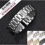 豪利時ORIS不銹鋼金屬實心鋼帶男大錶盤拋光磨砂鋼錶帶20 22 24mm