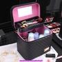 💍2019🌸升級版🎀韓妞必備💕女神💕日式時尚大容量韓國時尚化妝包大號雙層便攜手提專業收納盒化妝箱盒
