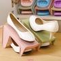 【迪卡賣場】家用雙層鞋子收納架塑料一體式鞋托簡約現代客廳衣柜簡易收納鞋架