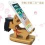 現貨 交換禮物 麋鹿二合一手機座 竹木小鹿桌面手機支架 麋鹿造型手機支架 創意木質懶人底座 支架 台灣現貨
