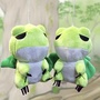 【GCT玩具嚴選】4入日本青蛙絨毛玩具20cm(青蛙絨毛娃娃 20cm 旅蛙 旅行青蛙 蛙兒子 玩偶 布偶)