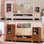 【在地人傢俱】星巴克柚木色/水洗白色全實木1.6尺二抽高櫃/展示櫃/立櫃