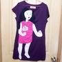 🅾milida紫色拼貼洋裝