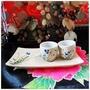 日式彩繪花卉風格陶瓷清酒壺清酒杯酒具套裝瓷器