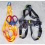 【威威五金】台灣製 ADELA 雙大鉤超輕鋁合金快扣式背負式安全帶+鋁合金扣環 全身式 雙勾降落傘安全帶 高空作業安全帶