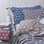 柔軟三層紗布純棉枕巾全棉可愛情侶星星加大枕巾宜家良品  居家物語