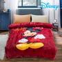 Disney法蘭絨暖暖被-紅色搖滾米奇