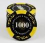 德州撲克14克高檔粘土籌碼可定制籌碼(經典黑/米麥穗)100片