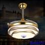 風扇燈 led餐廳吊扇燈客廳簡約現代輕奢燈具隱形電風扇吊燈