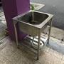 不鏽鋼水槽(單口水槽)(水槽工作台)二手