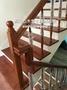 ~專業施工品質保証~實木地板/海島型地板/超耐磨地板/-琥珀柚木實木樓梯踏板/扶手