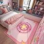 可愛粉色地毯少女心裝飾房間臥室滿鋪沙發床邊地毯墊北歐  WY 【快速出貨】
