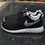 NIKE ROSHE ONE RUN (GS) 黑色 黑白 銀色 銀勾 黑底銀勾 網布 慢跑鞋 大童鞋 599728-021