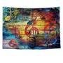 【橘果設計】彩色音符 掛毯掛布掛畫 直播拍照背景道具拍攝布景 牆壁窗簾門簾裝飾
