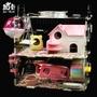 現貨倉鼠籠 ja-kal加卡倉鼠籠子壓克力籠金絲熊雙層超大透明別墅用品玩具  mks阿薩布魯8-23