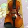 純手工 小提琴 烏木 雲杉 楓木 中古 二手 進階 非 初學 1/2 小孩 兒童 手工 方 盒 八角 弓 少了E弦